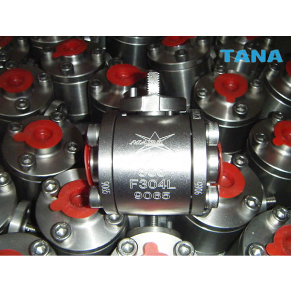 3pc small size forged steel ball valve China
