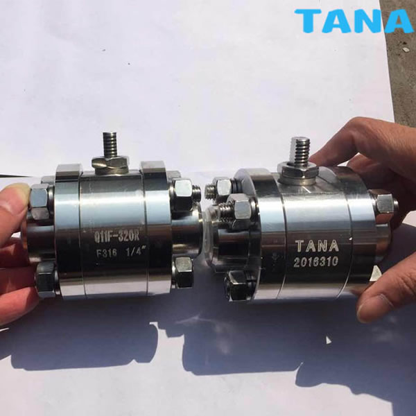 3pc forged steel small size ball valve
