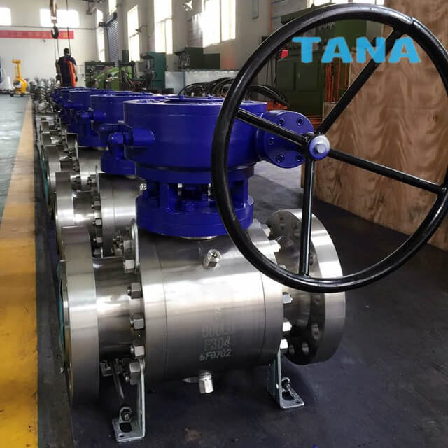 3 Piece Forged Trunnion Mounted Ball Valve,
