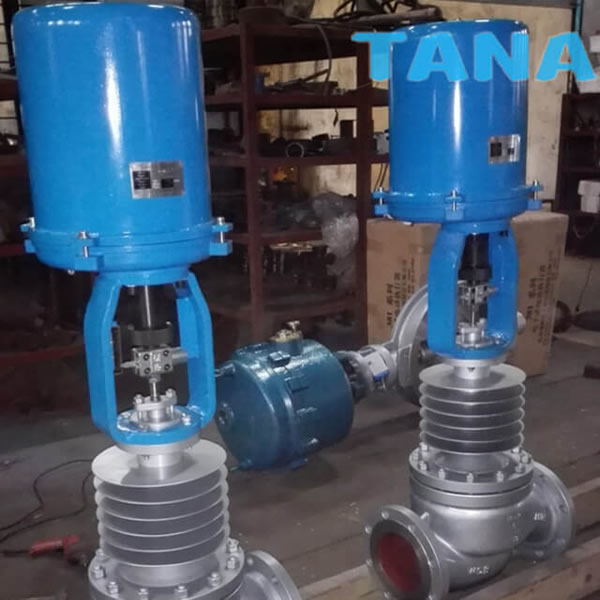 electric actuator for control valve